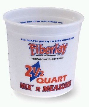 MEASURING BUCKETS - 2.5 QUART CASE (50)
