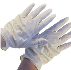 LATEX DISPOSABLE GLOVES / LG / PAIR