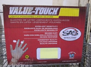 LATEX DISPOSABLE GLOVES / LG / BOX